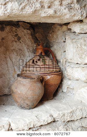 Moldavian Pottery - Jugs For Oil