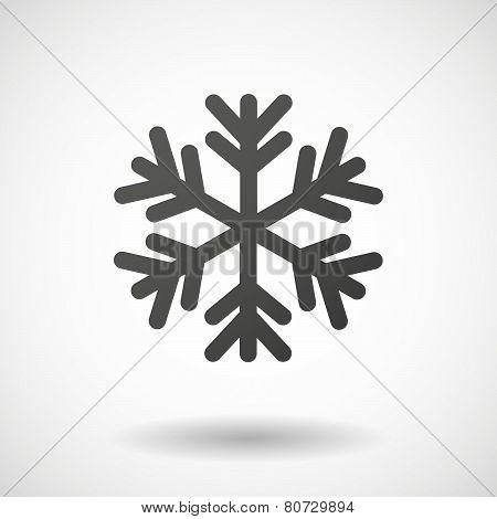 Snow Flake  Icon On White Background