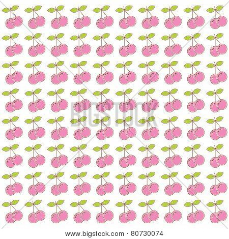 cherry pattern background vector