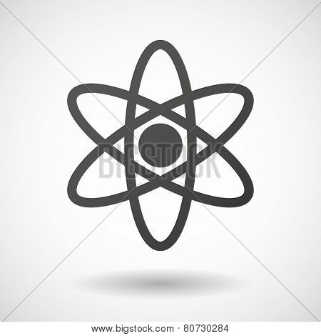 Atom  Icon On White Background