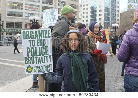 Young activist with sign