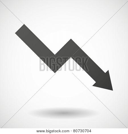 Graph  Icon On White Background