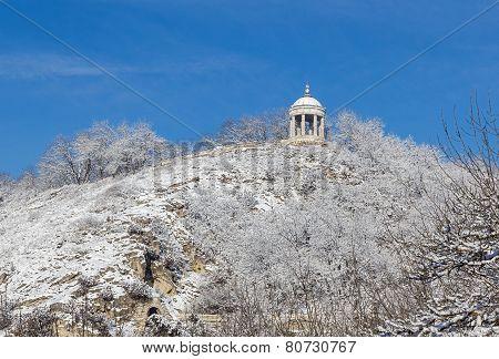 Stone Arbor On The Rock. Pyatigorsk.