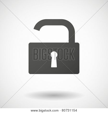 Lock Pad  Icon On White Background