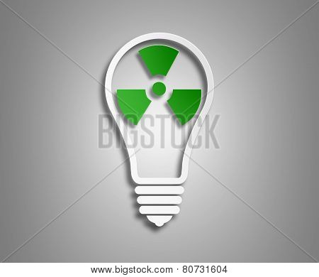 concept ecology. the image of the light bulb