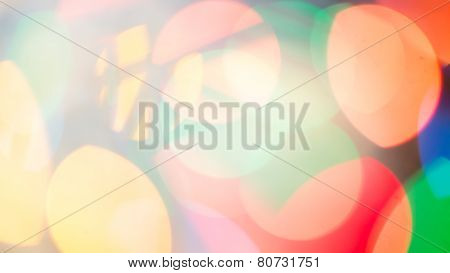 Abstract city lights blur blinking background. Soft focus
