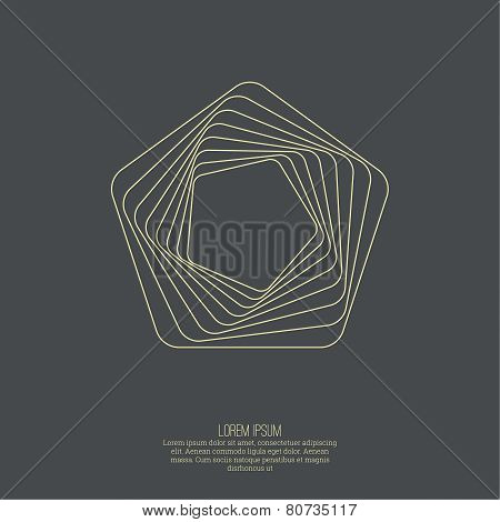Abstract background with a pentagon geometry