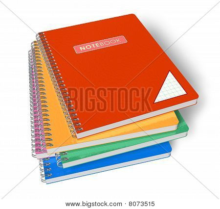 Stack of color notebooks