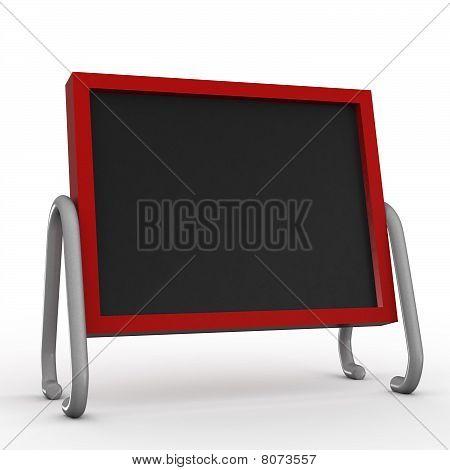 Quadro negro pintado vermelho