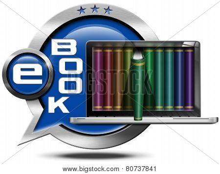 E-book - Metallic Speech Bubble