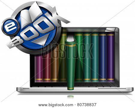 Laptop Computer - Library E-book