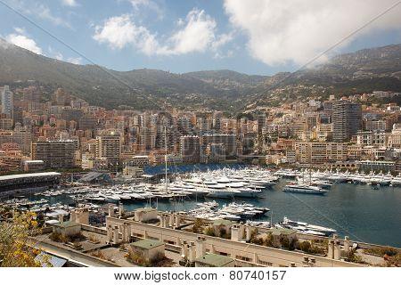 Monaco yacht harbor
