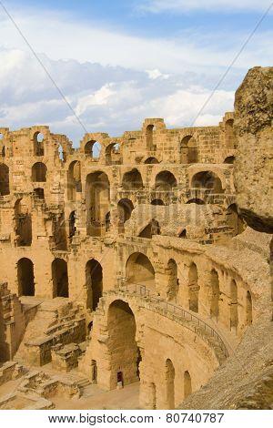 Roman colosseum at El Djem