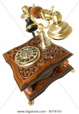Communication Old-fashioned Telephone Isolated