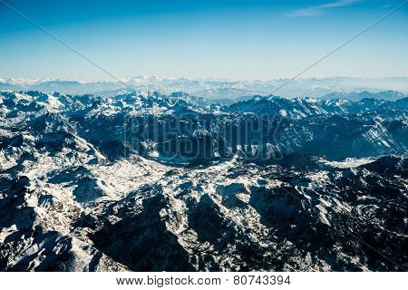 Montenegrian Mountains With Snow