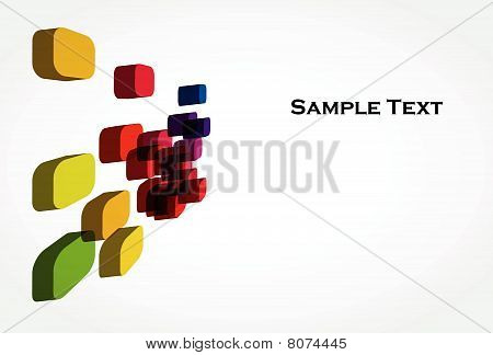 An abstract 3d background design