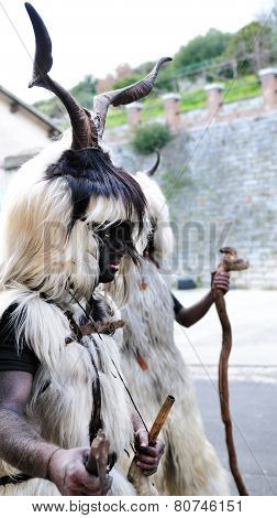 Traditional Masks Of Sardinia.