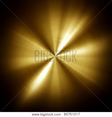 gold metal plate with rays pattern