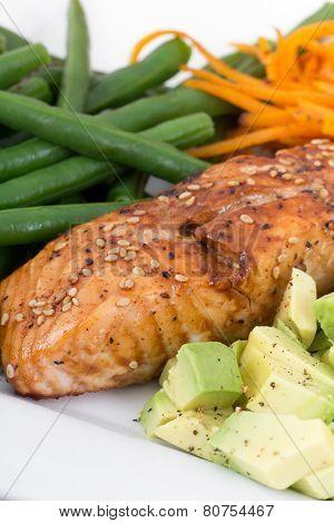 balsamic and maple salmon dish