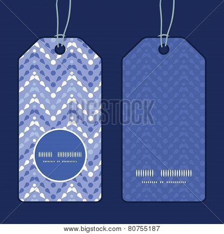 Vector purple drops chevron vertical round frame pattern tags set