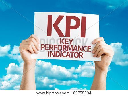 KPI card with sky background
