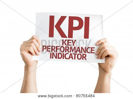 KPI card isolated on white background