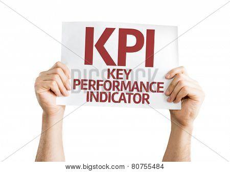 KPI card isolated on white background