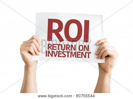 ROI card isolated on white background
