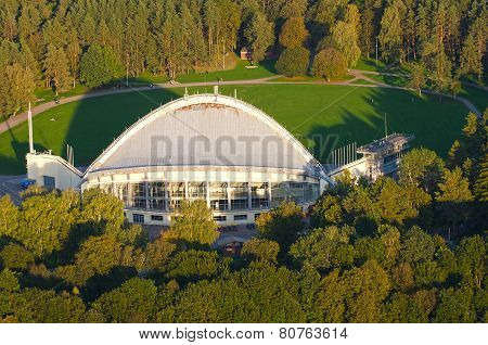 Aerial view of Amphitheater in Vingis Park in Vilnius