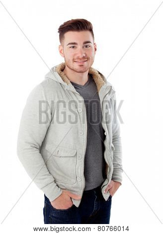 Casual men isolated on a white background