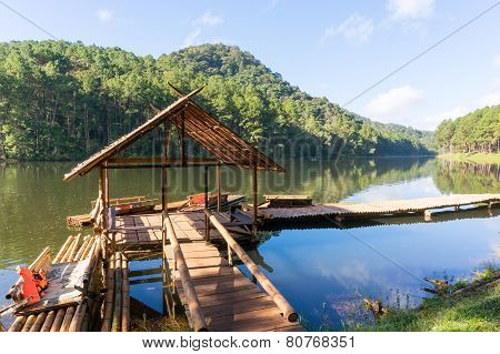 Pang Ung reservoir lake located in Mae Hong Sorn, Thailand.