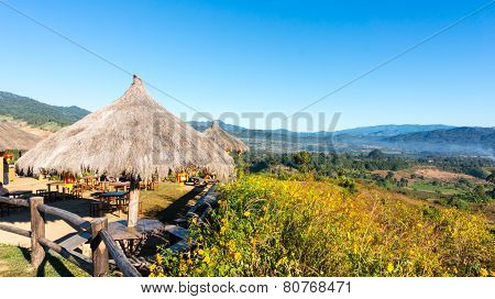 the public rest-house at Yun Lai Viewpoint  located in Mae Hong Sorn, Thailand.