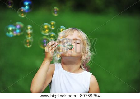 Girl With Bubble Blower