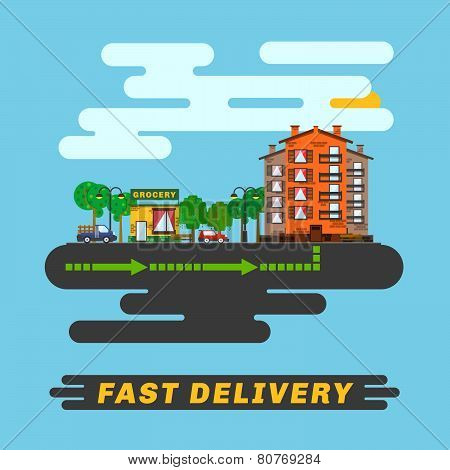 Cityscape, Informs Fast Delivery Service.