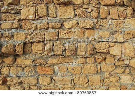 Background Texture of wall in Caesarea Maritima National Park