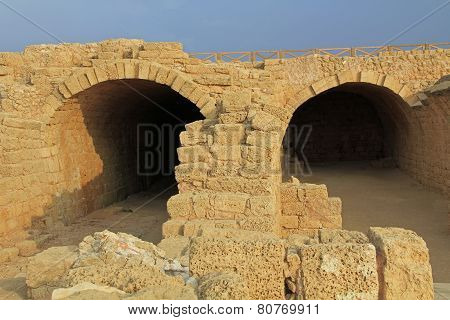 Storage Rooms in Caesarea Maritima National Park
