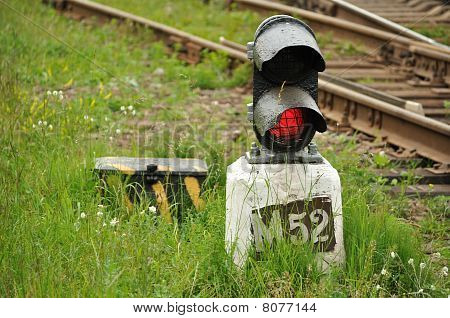 Railway post - semaphore