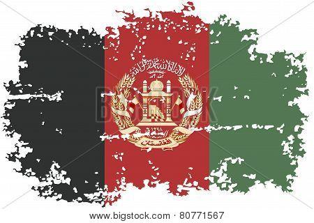 Afghanistan grunge flag. Vector illustration.