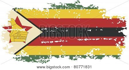 Zimbabwean grunge flag. Vector illustration.