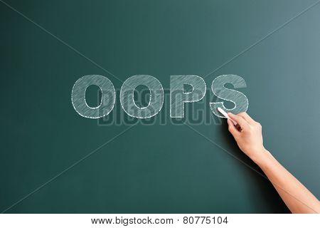 oops written on blackboard