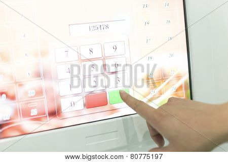 Click and input the digital number pad