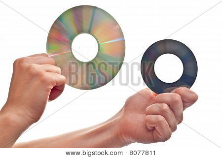 Cd's In Hand