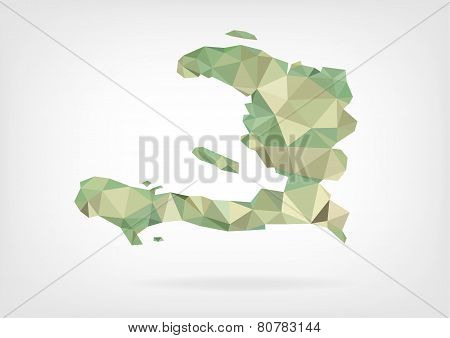 Low Poly map of Haiti