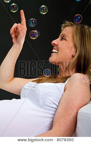 Freshly Pregnant With Bubbles