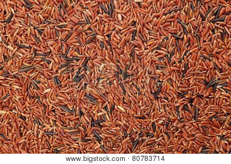 Camargue Red Rice Grains Background