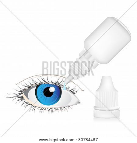 Illustration of Eye dropper bottle isolated on white background