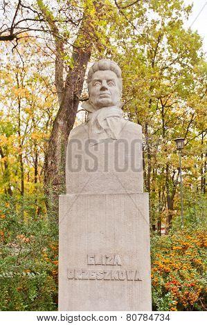Eliza Orzeszkowa Monument In Warsaw, Poland