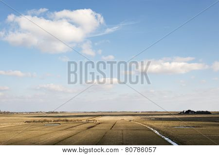 Fields And Ditches In Northern Germany