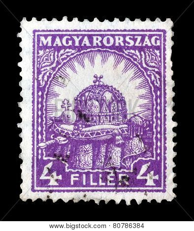 Hungary 1926 Crown of St Stephens
