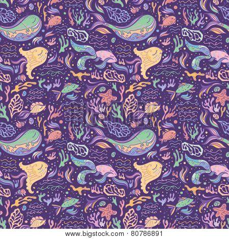 Purple sea pattern